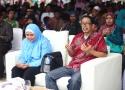 Majelis Nasional Petani (MNP) SPI asal Sumatera Selatan, JJ Polong dan perwakilan staf La Via Campesina (Gerakan Petani Internasional) Irmayani