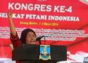Zubaidah, Ketua BPW SPI Sumatera Utara memberi kata sambutan mewakili petani perempuan SPI