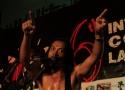 Vokalis band Navicula menghibur penonton konser malam kedaulatan pangan