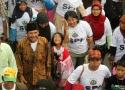 Luapan kegembiraan salah satu keluarga petani yang ikut dalam Aksi