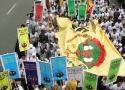 Ribuan massa petani SPI tumpah ruah di jalanan ibukota