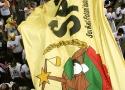 Bendera raksasa SPi turut dikibarkan dalam Aksi Hari Tani Nasional dan Peringatan 50 Tahun UUPA ini