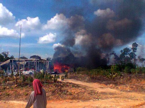 Pembakaran Rumah Petani atas nama REDD