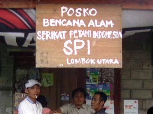 Posko Solidaritas Bencana Alam SPI Lombok Utara