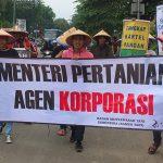 aksi hari tani nasional 2016 di kementerian pertanian