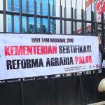 aksi di kementerian agraria hari tani nasional