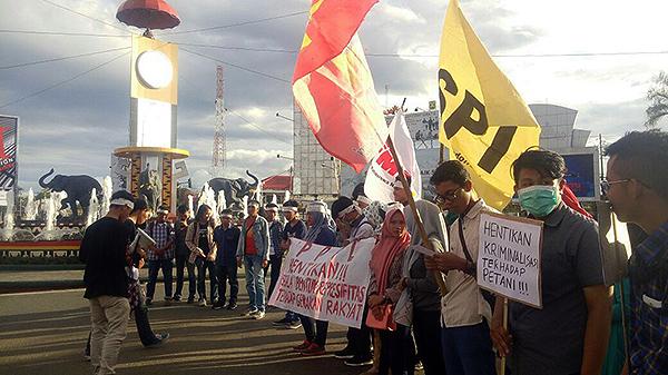aksi solidaritas SPI di Lampung