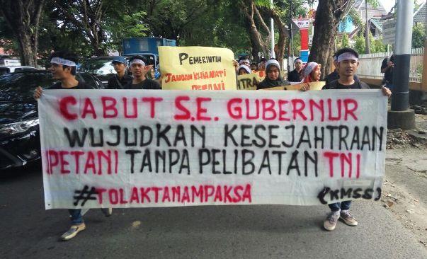aksi tolak surat edaran gubernur sumatera barat