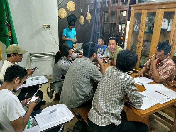 Konferensi Pers Terkait Petani SPI Mekarjaya di DPP SPI di Jakarta, pagi ini, 28/03