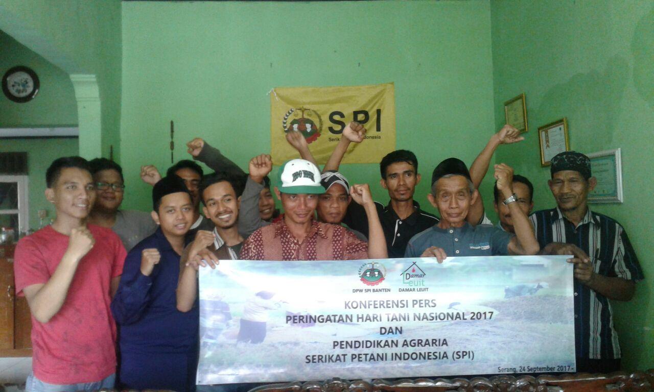 Konferensi pers dan pendidikan agraria untuk pemuda tani Banten