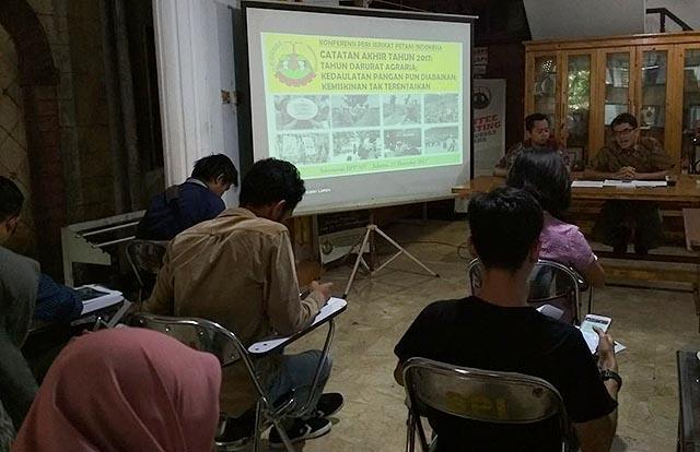 Konferensi Pers Catatan Akhir Tahun DPP SPI di Jakarta