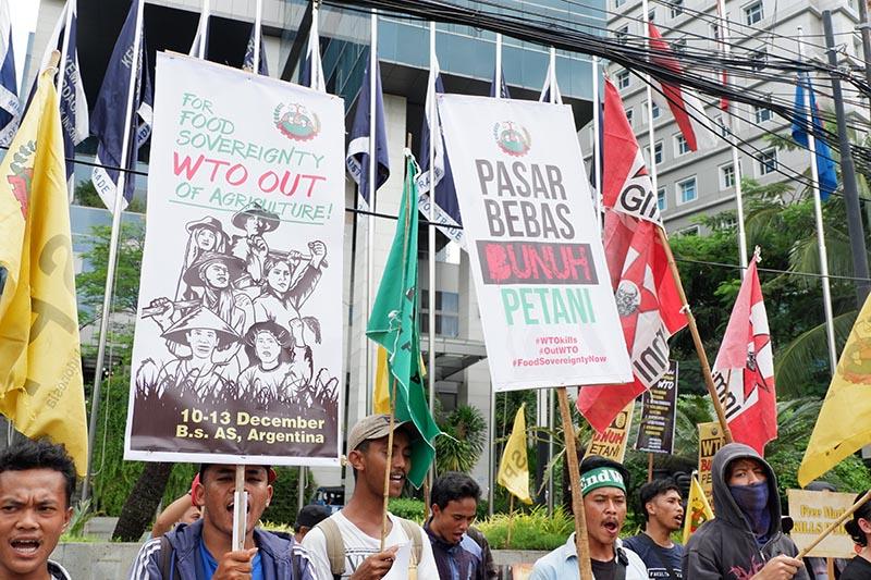 Mahasiswa_Pemuda Tani Tolak WTO